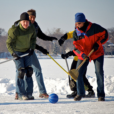 "CC BY 2.0 Sawdust Media ""Broomball"""